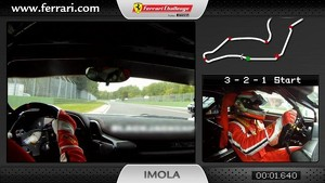 Ferrari 458 Challenge on-board camera: Niki Cadei in Imola
