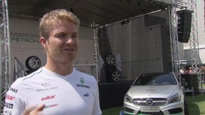 Mercedes-Benz Rastatt - Interview Rosberg