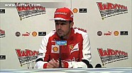 Fernando Alonso press conference at Wrooom! 2013
