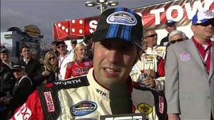 Sam Hornish Jr in victory lane Las Vegas