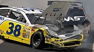 NASCAR Ryan Newman and David Gilliland Fight After Crash!! Dover 2013