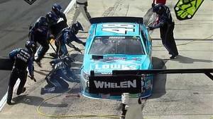 NASCAR Jimmie Johnson hits the wall | Pocono 2013