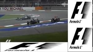 F1 Bahrain 2014 - Pastor Maldonado and Esteban Gutierrez BIG CRASH