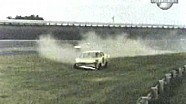 Cale Yarborough flies over the wall at Darlington in 1965