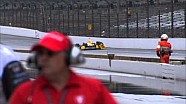 Ryan Hunter-Reay crash at Grand Prix of Indianapolis qualifying