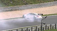 Multiple crashes at turn 9 - Salzburgring