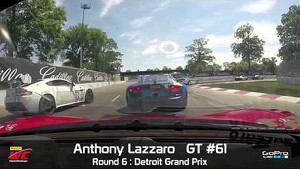 Detroit 2014 - Anthony Lazzaro On Board Highlights of Round 6 GT