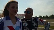 Coronel gets racing advice from grid girl