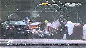 Massive crash on final lap of Canadian GP:  Massa & Perez