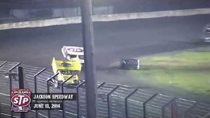 Highlights: World of Outlaws STP Sprint Cars Jackson Speedway June 13th, 2014