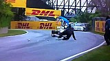 Track worker falls & nearly gets hit - 2011 Canadian Grand Prix