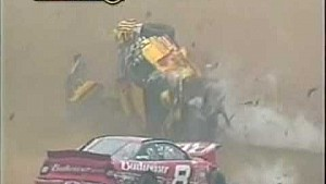 Massive flip/crash for Earnhardt & Park - 2002 Pocono