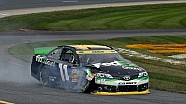 Hamlin collected in multi-car wreck