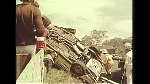 Bill Brown's terrifying roll - 1969 Bathurst 1000