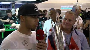 Lewis Hamilton 2014 F1 World Champion - Abu Dhabi GP post-race interview