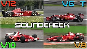 One Brand, One Racetrack: Ferrari F1 Engines Soundcheck - 2014 V6 Turbo, V8, V10, V12