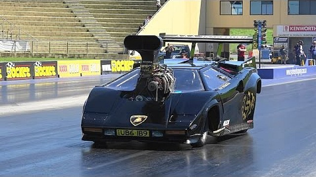lamborghini countach funny car at sydney dragway drag videos. Black Bedroom Furniture Sets. Home Design Ideas