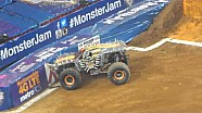 Man runs out onto live Monster Jam track