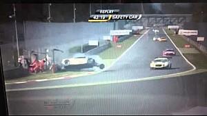 Violent crash - BES at Monza