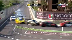 Kozlovsky and Huff crash at Marrakech
