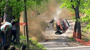 Huge crash at Rallye Ronde de La Durance 2015