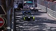 Этап Формулы Е в Монако. Большая авария, машина Бруно Сенна в воздухе