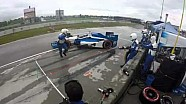 Crew chief hit during IndyCar pit stop