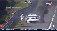 Porsche se quema en Le Mans