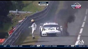 Porsche burns, Rebellion & Strakka spin in the oil