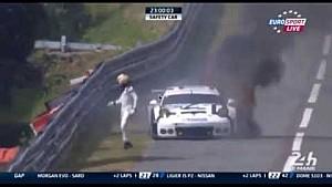 Porsche burns, Rebellion & Strakka spin in the oil