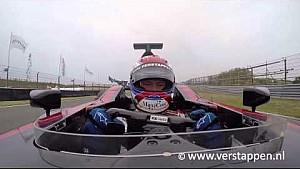 Jos Verstappen Overtaking Onboard Footage Minardi PS01 at Italia a Zandvoort, 28/06/2015