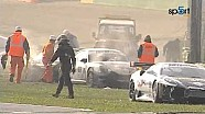 Big start crash, Superstars GT Sprint 2010 at Vallelunga
