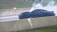 From the grandstand: Big wreck destroys Nissan GT-R