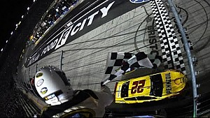 Logano holds off Harvick for second BMS win
