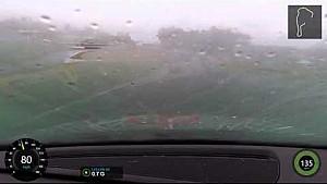 Hard racing in the rain at Road Atlanta ends up with a major crash