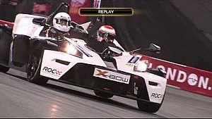 Button vs Coulthard - 2nd closest finish in ROC history (0.005s)