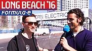 Dario Franchitti e tutti i piloti a Long Beach