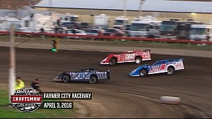 Highlights: World of Outlaws Craftsman Late Models Farmer City Raceway April 3rd, 2016
