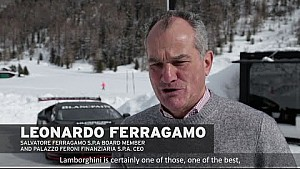 Leonardo Ferragamo enjoyed the Lamborghini Winter Accademia