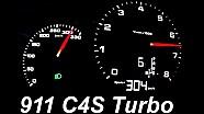 Porsche 911 Acceleration 0-300 Carrera 4 S Turbo 991 Onboard POV Autobahn Launch Control