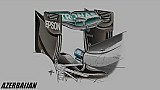 Giorgio Piola - Mercedes W07 'Spoon' rear wing
