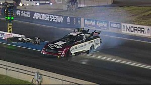 Tim Wilkerson makes hard right turn hitting wall in Denver