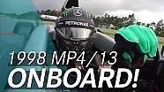 Onboard the McLaren 1998 MP4/13 with Nico Rosberg!