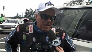 John Force comments on his daughter Courtney hitting the wall