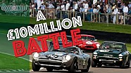 E-Types and Bizzarrini battle and crash at Goodwood Revival!