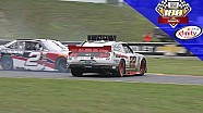 Tagliani spins while battling for the lead