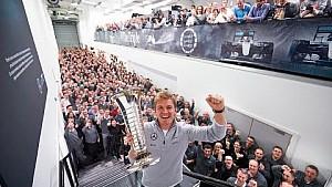 Nico Rosberg Returns to Brackley as F1 World Champion