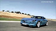 The SLS AMG Coup Electric Drive on the Ascari race track