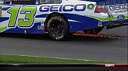 Casey Mears Hits The Wall - Kansas - 10/21/2012