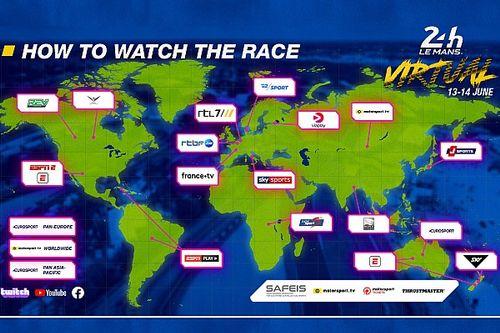 Virtuele 24 uur van Le Mans live te zien op RTL7 en Eurosport